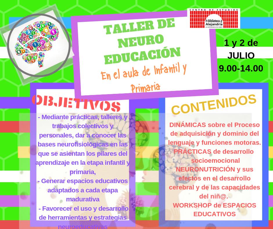 TALLER NEURO ip OBJETIVOS Y CONTENIDOS JULIO